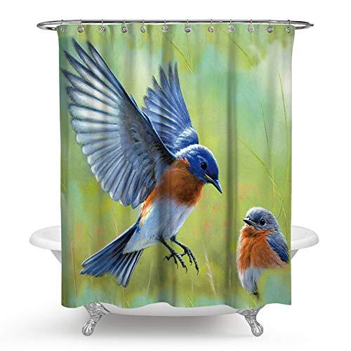 KnSam Duschvorhang 3D-Effekt Wasserdicht Anti Schimmel Waschbar mit -