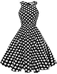 Sommerkleid schwarz mit punkten