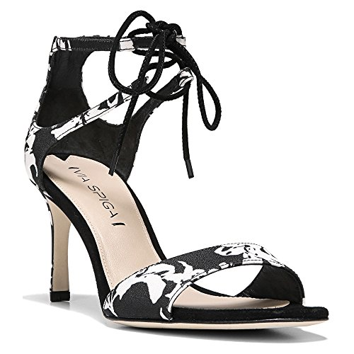 Via Spiga Skylar Stoff Sandale Black/White