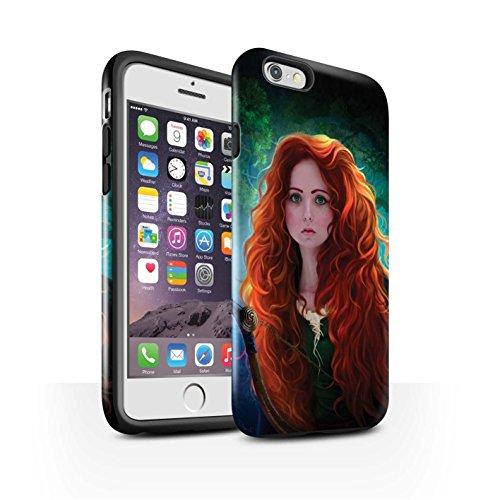 Officiel Elena Dudina Coque / Brillant Robuste Antichoc Etui pour Apple iPhone 6 / Cheveux Dorés Design / Caractère Conte Fées Collection Princesse