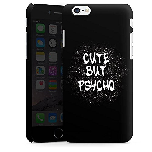 Apple iPhone SE Silikon Hülle Case Schutzhülle Cute but Psycho Statement Spruch Premium Case matt
