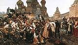 Kunstdruck/Poster: Wassili Iwanowitsch SurikowDer Morgen der Strelitzenhinrichtung - hochwertiger Druck, Bild, Kunstposter, 90x50 cm