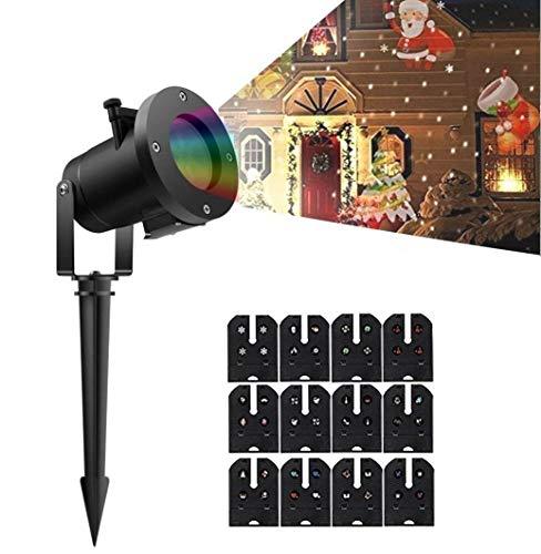 Weihnachten Projektor-Lichter LED-Projektions-Lampe Scheinwerfer-Licht-wasserdichter Effekt mit 12 austauschbaren -