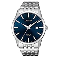 Citizen Men's Blue Dial Stainless Steel Band Watch - BI5000-87L
