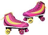 ROLLSCHUHE Kinder Mädchen Rollerskates Gr. 37 38 39 40 NEU Lila Pink ABEC-5 Kugellager Top Design (38)