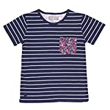 boboli 453035-9452, Camiseta para Niñas, Azul (Listado Marino), 8 años