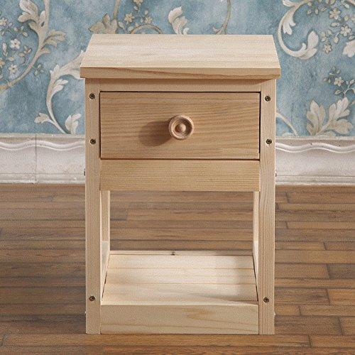 EWYGFRFVQAS Log Mini Nachttisch Einfach Modern Versammlung Extra Schmaler  Nachttisch Massivholz Nachttisch Schlafzimmer A 40x30x42cm(16x12x17)