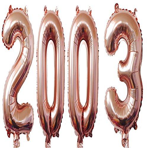 2003Luftballons 101,6cm Rose Giant Jumbo Helium Folie Mylar Luftballons für Party zum 15. Geburtstag Dekoration