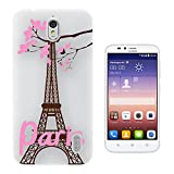 c0990 - Beautiful Eiffel Tower Pink Paris France Pretty
