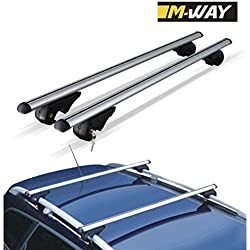 M-Way nnrb1045.33 Aero – Barras de techo de aluminio rack Cruz, diseño de bloqueo Rail Eagle