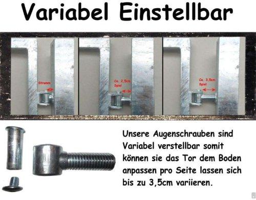 Hochwertiges, 2-flügeliges Tor / Grün beschichtet / Tor-Einbau-Breite: 500 cm - Tor-Einbau-Höhe: 103 cm - Inklusive 2 Pfosten (60mm x 60mm) / Einfahrtstor Gartentor Mattentor
