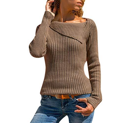 Ihengh camicetta moda casual manica lunga per donna pullover lavoro clloare del collare maniche lungghe casuale donne festa fashing estate primvera(marrone,small)