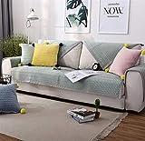 Liveinu Fleece Plüsch Warm Matte mit Anti-Rutsch Mehrfachnutzung Sofaüberwurf Sesselschutz Spielmatte Japanischer Tatami Teppich Für Fußboden Sofa und Bett 70x120cm Grün
