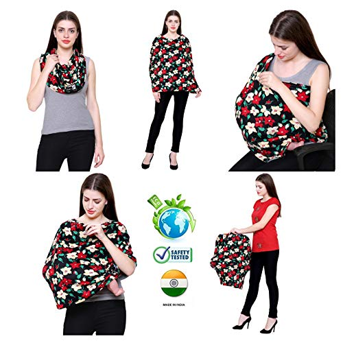 Feather Hug 360 Nursing Cover for Breastfeeding Mother (Mangolian Floral)