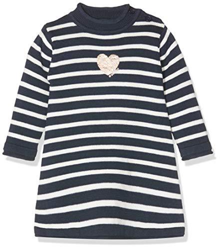Schiesser Baby-Mädchen Strickkleid Strickjacke, Blau (Dunkelblau 803), 74 (Herstellergröße: 074) -