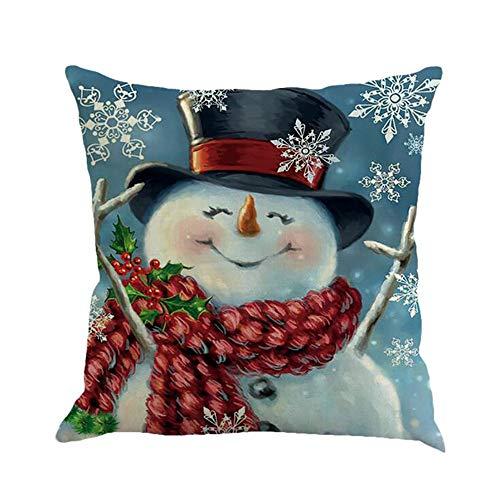 squarex Kissenbezug, 45 x 45 cm, Weihnachtsdekoration, Büro, Sofa, Auto, Taille, Überwurf, Kissenbezug, quadratisch, antiallergen, Sehr weicher Stoff, B, 45 x 45 Centimeters