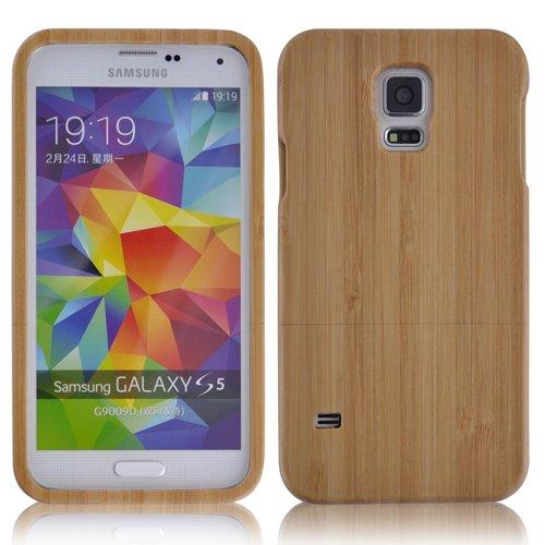Semoss Bambù Custodia in Fatta a Mano Cover Rigida per Samsung Galaxy S5 Naturale Bamboo Case