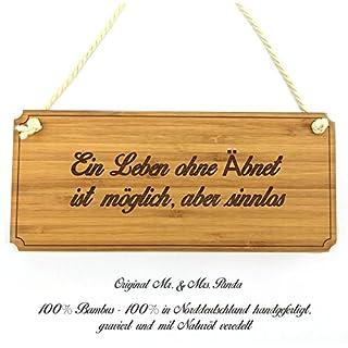 Mr. & Mrs. Panda Türschild Stadt Äbnet Classic Schild - Gravur,Graviert Türschild,Tür Schild,Schild, Fan, Fanartikel, Souvenir, Andenken, Fanclub, Stadt, Mitbringsel