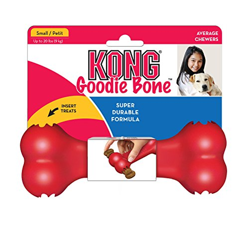 KONG Goodie Bone Dog Toy, Red