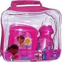 Girls Kids Hello Kitty Princess Monster High Lunch Bag Kit Set With Water Bottle & Sandwich Box (Doc McStuffins Lunch box Set)