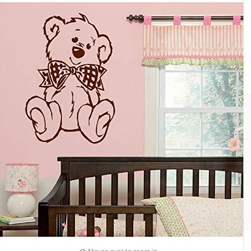 Große Nursery Baby Teddy Bär Wandkunst Aufkleber Transfer Aufkleber 100% Charity 80X55Cm -