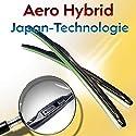 Jurmann Trade GmbH® 2X Hybrid Japan-Technologie-Technologie Ersatz Scheibenwischer Hakenbefestigung Wischerblätter Black LINE Edition Set 450/450 mm