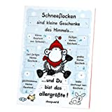 """Sheepworld 61032 Adventskalender """"Schneeflocken sind kleine Geschenke des Himmels"""", mit Schokolade"""