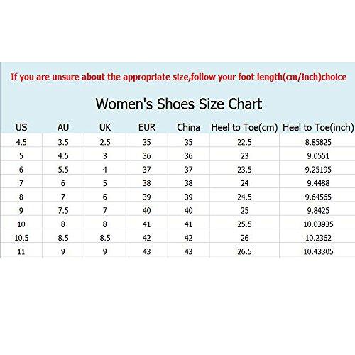 QZBAOSHU Mode Sneaker für Mädchen Frauen Fitness Laufen Sportschuhe Keil Grau