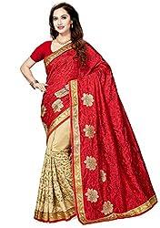 Ishin Bhagalpuri Art Silk Beige Woven Zari Border Party Wear Wedding Wear Festive Wear New Collection Latest Design Trendy Womens Saree