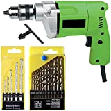 Shree Jee Traders 10 mm Drill Machine with Bit Tool Kit (13HSS and 5 Masonry Bits)