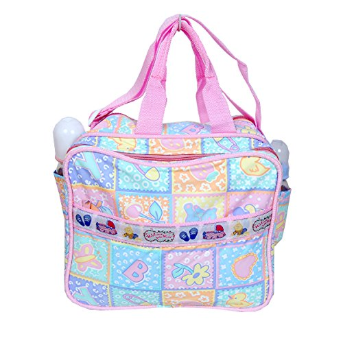 Gurukripa New Born Baby Multypurpose Mother Bag With Holder Diapper Changing Multi Comprtment For Baby Care And Maternity Handbag Messenger Bag Diaper Nappy Mama Shoulder Bag Diaper Bag For Baby Multipurpose Waterproof Mother Bag Diaper Bag (Pink)  available at amazon for Rs.500