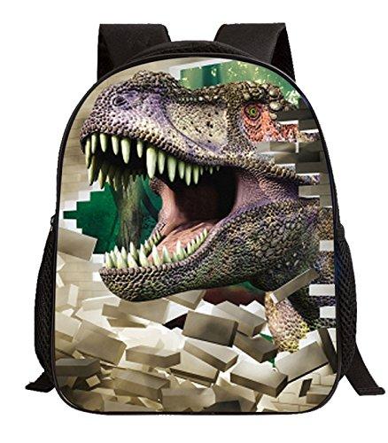 Imagen de happy cherry 3d animal  dinosaurio estampado bolso infantil para niños niñas escuela guardería, patrón 2