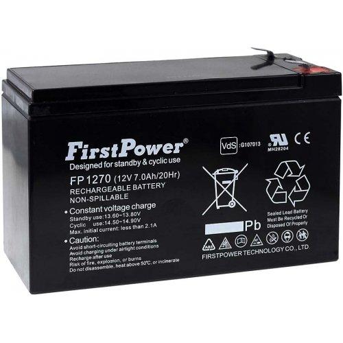 FirstPower Blei-Gel-Akku für USV APC Back-UPS 650 7Ah 12V, 12V, Lead-Acid