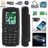 Téléphone mobile tout terrain waterproof antichoc lampe torche Noir