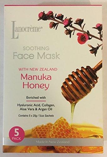 Lanocreme Soothing Face Mask (5) Pack Manuka Honey New Zealand by Lanocreme