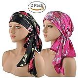 EINSKEY Turbantes para Mujer, 2PCs Anti-UV Pañuelos Cabeza para Cancer, Oncologicos, Perdida de Cabello, Sensación de Satén de Seda