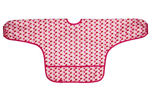 Lässig Lätzchen Long Sleeve Waterproof Bib, Mushroom magenta