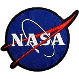 6,6cm x 6,6cm azul Nasa Space Center uniforme DIY bordado Sew hierro en parche
