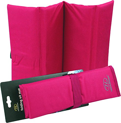 Highlander Folding Sit Mat Sitzmatte, rot, One Size