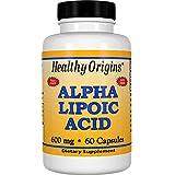 Healthy Origins, Acide alpha lipoïque, 600 mg, 60 Capsules