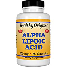 Healthy Origins, ácido alfa lipoico - 600mg x60caps