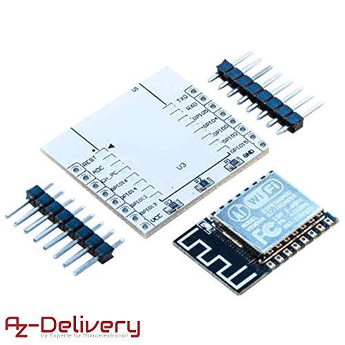 AZDelivery ESP8266 ESP-12F verbesserte Version zu ESP-12E, Wireless remote serielles WLAN WIFI Modul für Arduino, Raspberry Pi und Mikrocontroller mit gratis Adapter Board! -