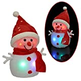 Beleuchteter Schneemann 4 LED bunt Höhe 23 cm Beleuchtung Weihnachten Batterie