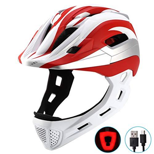 Yissma Kinder Sporthelm, Skaterhelm Fahrradhelm Scooter Helm Radhelm Sicherheit für Mädchen Junge mit abnehmbarem USB-Rücklicht-Schutzhelm