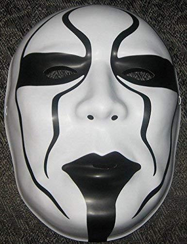 Wrestling Sting WWE Offiziell Maske - Kostüm Verkleiden Outfit Gesichtsmaske Halloween - mit Elastische Riemen