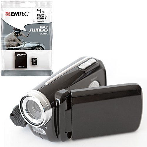 Meine erste Videokamera für Kinder - mit 4GB (class 10) Speicherkarte, LED-Blitzlicht, Fotomodus, inkl. USB- und Videokabel