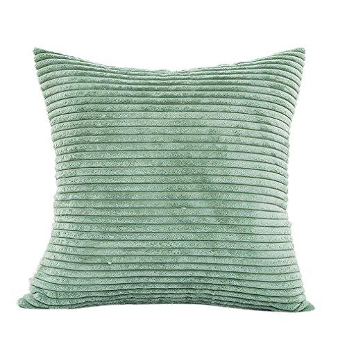 Vovotrade Textured Plüsch Kissen Sofa Taille Wurf Kissenbezug Home Decor Kissen Cover Case (Grün)