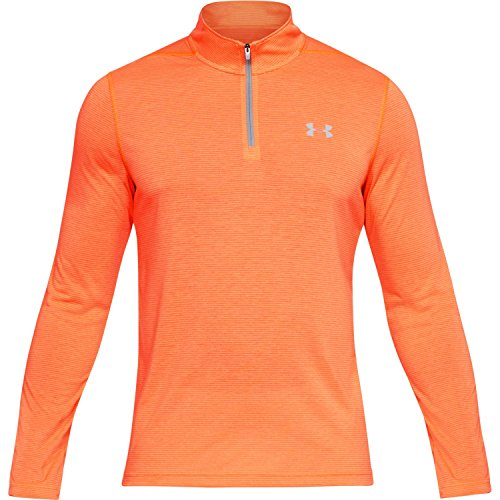 Under Armour HeatGear Threadborne 1/4 Zip Trainingsshirt Herren Magma Orange