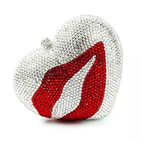 Sacchetto Di Cerimonia Nuziale Sacchetto Di Amore Di Sera Diamante Di Lusso Lips