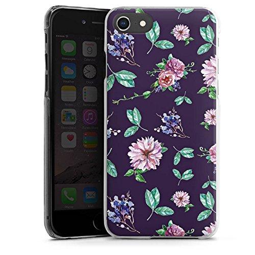 Apple iPhone 8 Silikon Hülle Case Schutzhülle Blumen Muster Herbst Hard Case transparent